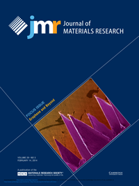 Francisco Orozco's image on the cover of the Journal of Materials Research.