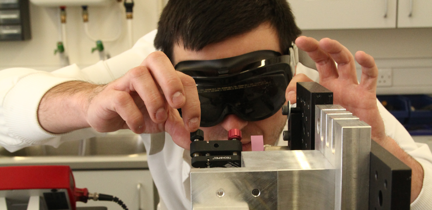 Scientist with goggles